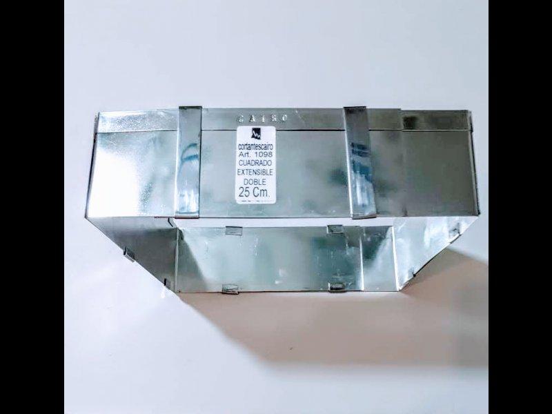 Cuadrado Extensible Doble 25 cm ( Se extiende a rectangulo y a cuadrado)